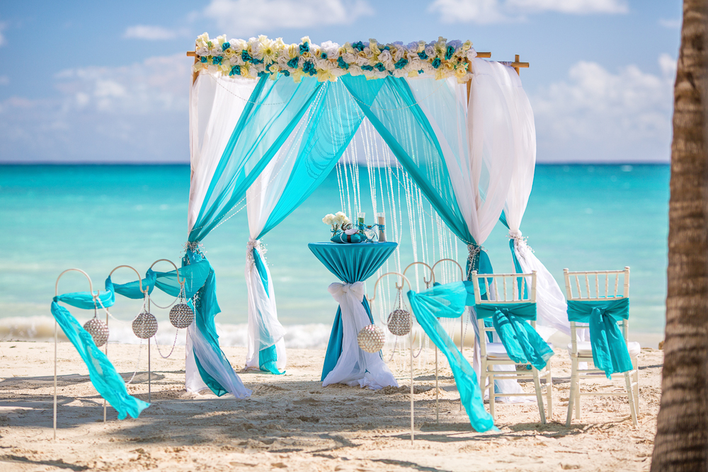 Wedding Decoration Turquoise Beach
